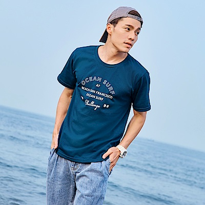美國棉.OCEAN SURF 短袖上衣-OB大尺碼