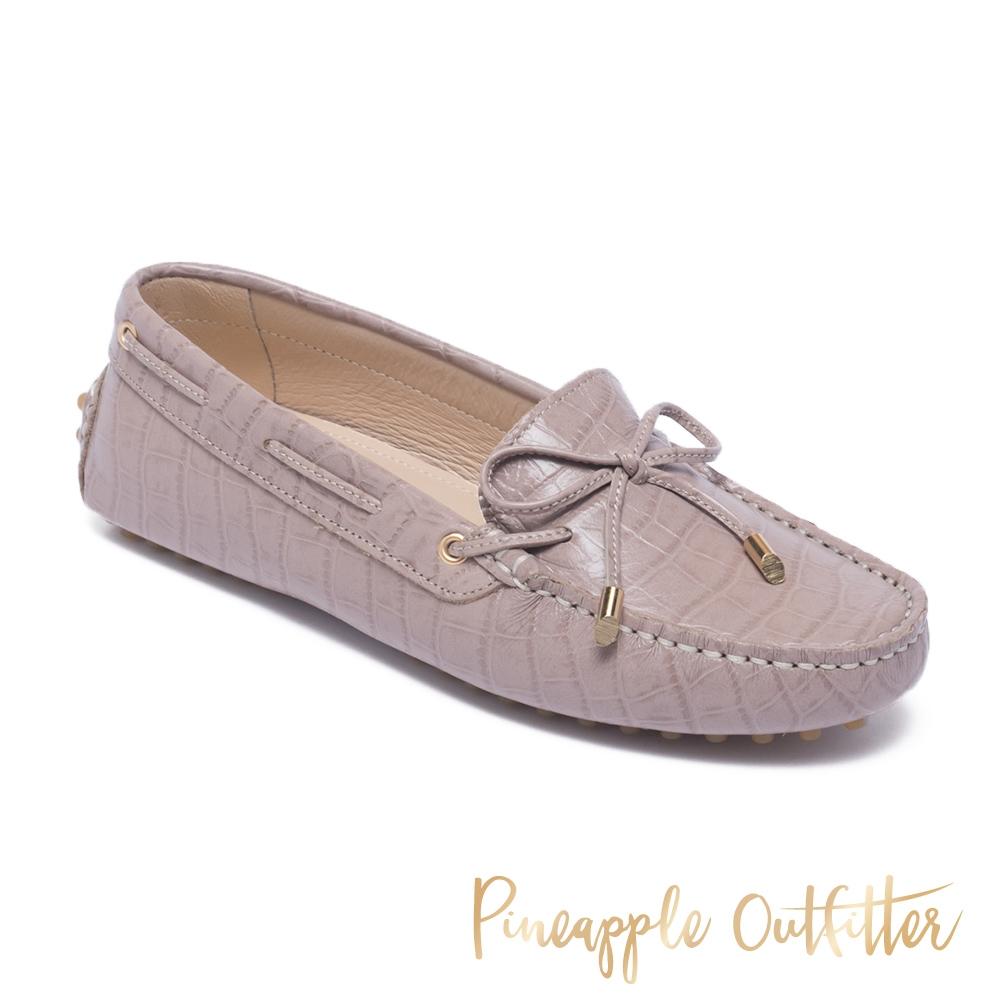 Pineapple Outfitter-EFFIE 真皮舒適休閒平底鞋-紫藕