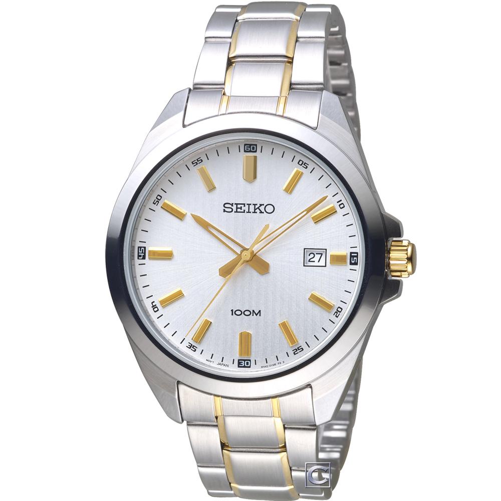 SEIKO 精工 時尚紳士腕錶(SUR279P1)雙色/42mm