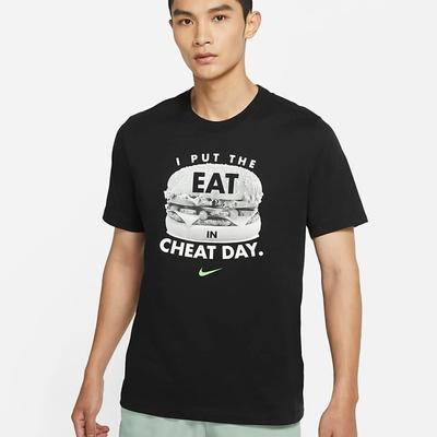 Nike DF TEE HUMOR 漢堡 男短袖上衣-黑-DD6921010
