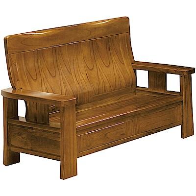 綠活居 米瑟典雅風實木二人座沙發椅-139x73x99cm免組