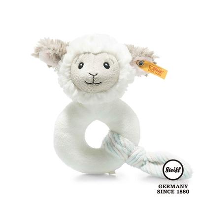 STEIFF德國金耳釦泰迪熊  Lita Lamb Grip Toy with Rattle  晚安小羊 (嬰幼兒手搖鈴)