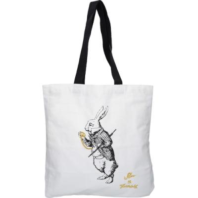 《CreativeTops》純棉托特包(仙境白兔)