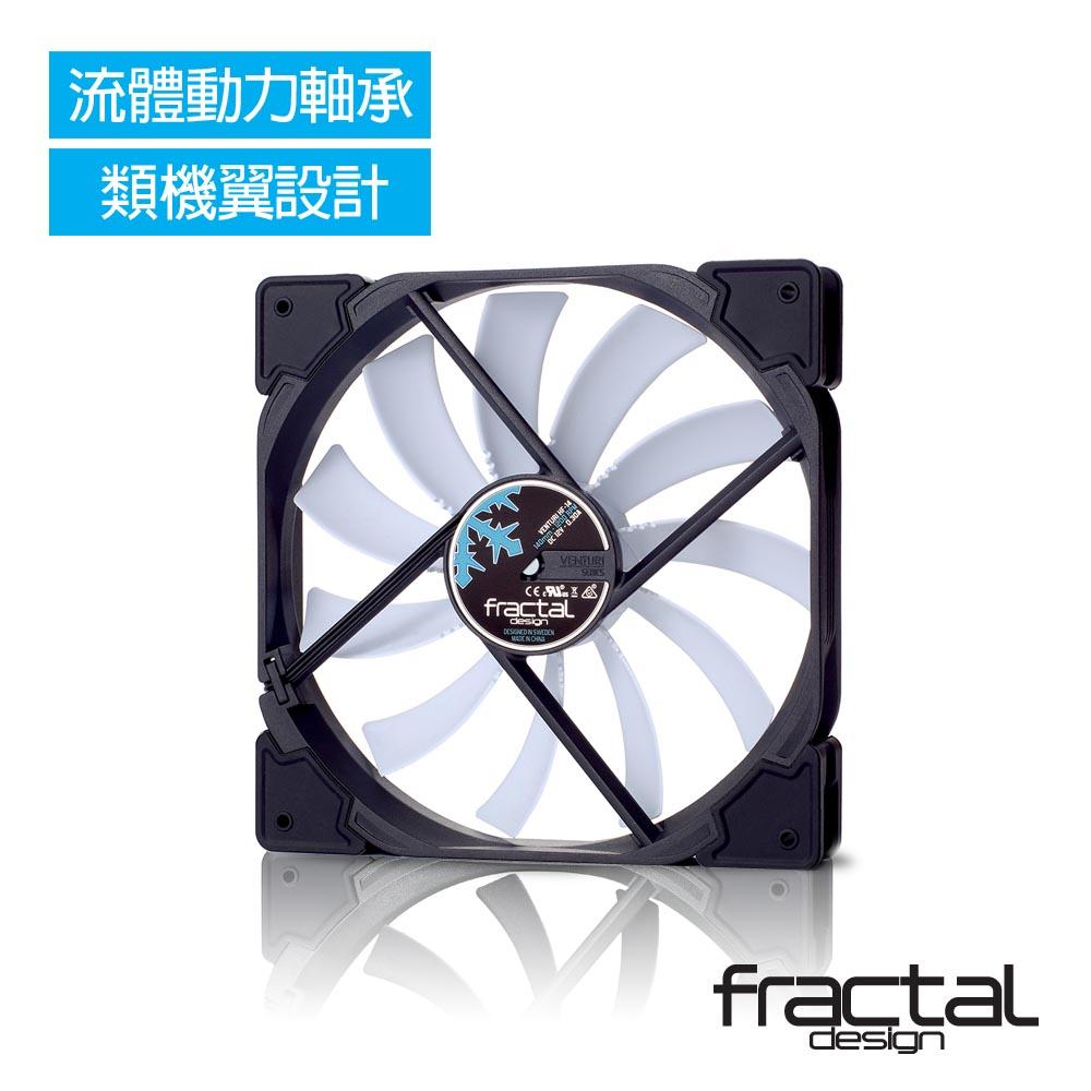 【Fractal Design】Venturi HF-14 140mm 靜音系統風扇-白
