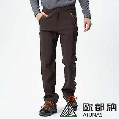 【ATUNAS 歐都納】男款SoftShell刷毛保暖長雪褲A-PA1730M深棕