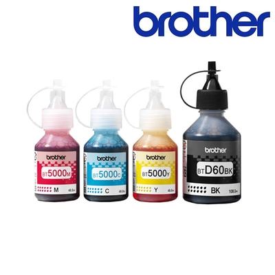 Brother BTD60BK+BT5000C/M/Y 原廠墨水組(1黑3彩)