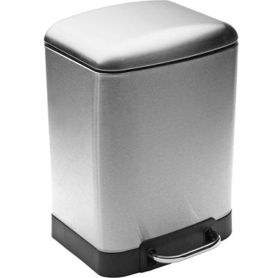 《VERSA》長方腳踏式垃圾桶(銀6L)
