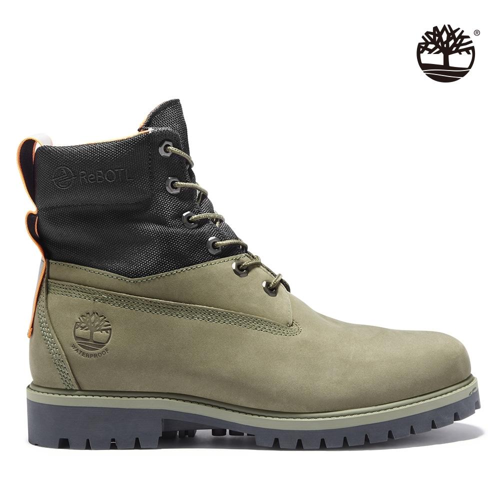 Timberland 男款深綠色磨砂革休閒中筒靴 A2DPU