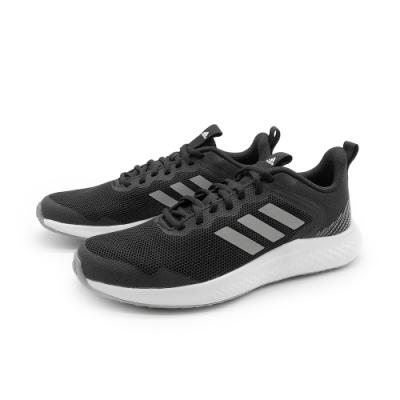 adidas 慢跑鞋 健身 訓練 運動鞋 女鞋 黑白 FW1714 FLUIDSTREET