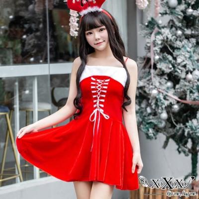 角色扮演 聖誕派對兩件式角色服 聖誕紅 XOXOXO