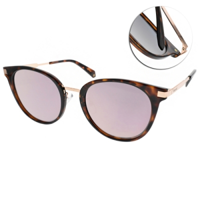 Polaroid 水銀偏光太陽眼鏡 嬉皮貓眼款/琥珀棕金 #PLD6061FS 0860J