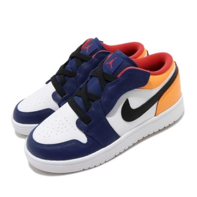 Nike 休閒鞋 Jordan 1 Low ALT 童鞋 經典款 喬丹一代 魔鬼氈 中童 穿搭 白 藍 BQ6066123