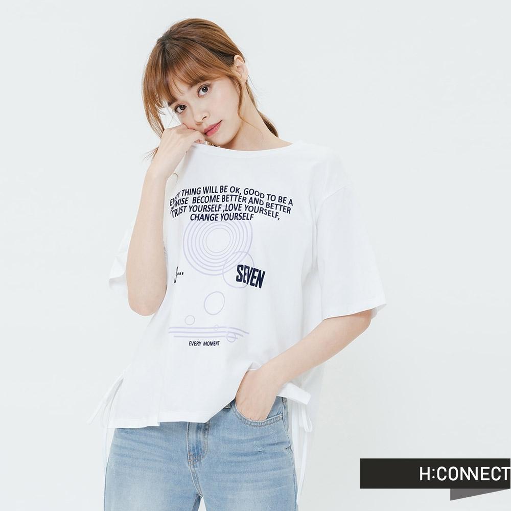 H:CONNECT 韓國品牌 女裝-相信自我圓領T-shirt-白