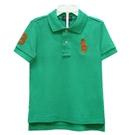 Ralph Lauren 男童數字3經典大馬短袖POLO衫-波斯綠(3歲/3T)