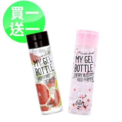 My Gel Bottle 我的肌膚果汁-葡萄柚黃瓜保濕凝露200ml+櫻花植粹保濕凝露 200ml