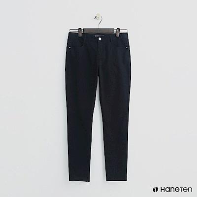 Hang Ten - 女裝 - 微彈合身純色長褲 - 黑