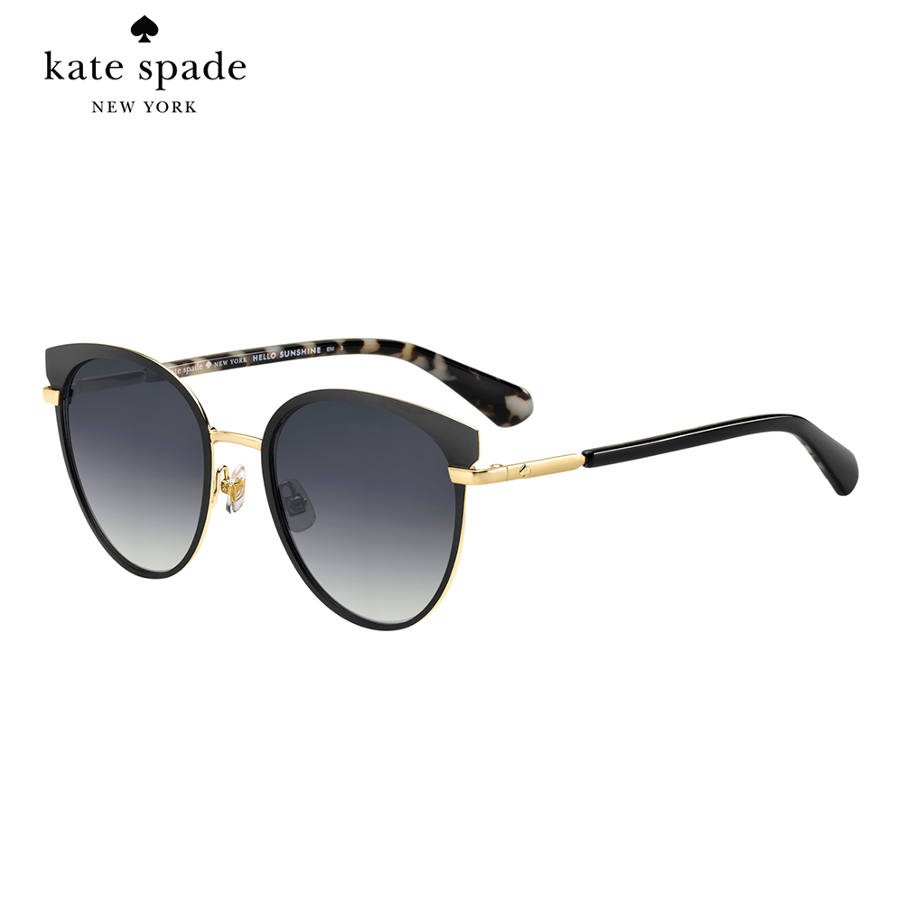 Kate Spade JANALEE/S-時尚貓眼太陽眼鏡 黑框