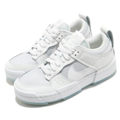 Nike 休閒鞋 Dunk Low Disrupt 運動 女鞋 基本款 解構 簡約 皮革 穿搭 球鞋 白 灰 CK6654001