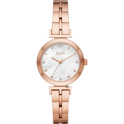 ELLE ODEON 系列優雅小錶徑女錶-珍珠貝x玫塊金/30mm ELL21008