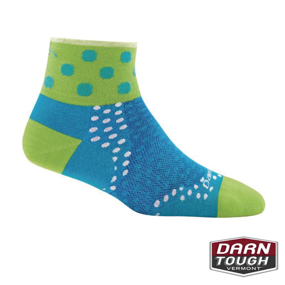 【美國DARN TOUGH】女羊毛襪DOT 1/4自行車襪(2入隨機)