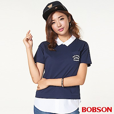 BOBSON 女款仿兩件式上衣