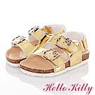 (雙11)HelloKitty 純色亮面減壓吸震腳床型童涼鞋-金