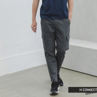 H:CONNECT 韓國品牌 男裝 -大口袋抽繩工裝長褲-綠