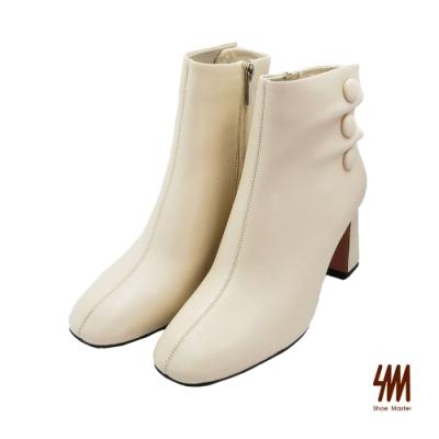 SM-優雅柔軟舒適素面羊皮高跟中筒靴-杏色 (兩色)