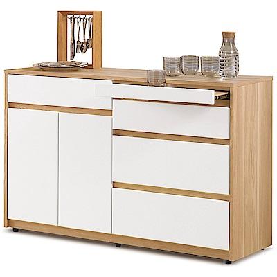 凱曼  路易斯4尺雙色收納櫃