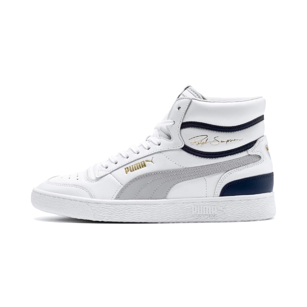 PUMA-Ralph Sampson Mid 男性復古籃球運動鞋-白色