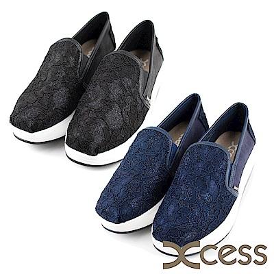 XCESS 女增高鞋 亮粉蕾絲 GW046 二色任選