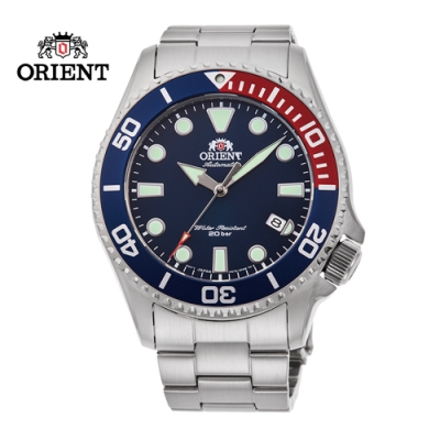 ORIENT 東方錶 WATER RESISTANT系列 200m潛水錶 鋼帶款 藍色 RA-AC0K03L - 43.4mm