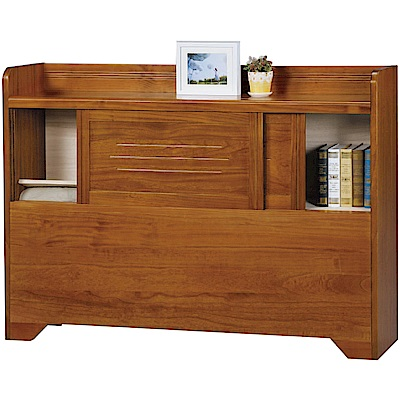 綠活居 米利時尚5尺實木雙人床頭箱(不含床底)-154x29.5x106.5cm免組