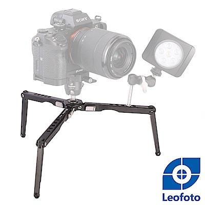 Leofoto徠圖-MT-03鋁合金蜘蛛桌面迷你兩節三檔攝影三腳架