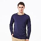 【HAKERS 哈克士】男 抗UV快乾長袖圓領衫-暮光藍