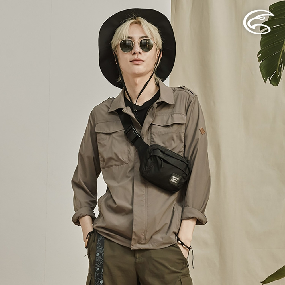 ADISI 男抗UV平織彈性軍裝貼袋夾克AJ2011083 (M-2XL)