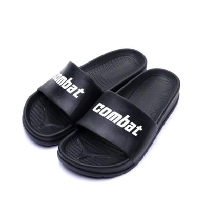 COMBAT艾樂跑男女鞋-百搭經典防水拖鞋-黑/白(61457)