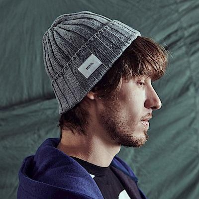 CACO-裝飾標坑條毛帽(四色)-男-【QNA027】