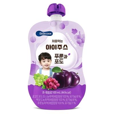 韓國【BEBECOOK】寶膳 嬰幼兒綜合葡萄西梅汁(100ml)