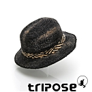 tripose FREDA 100%手工Raffia時尚遮陽草帽-帽簷5cm(扎染黑)