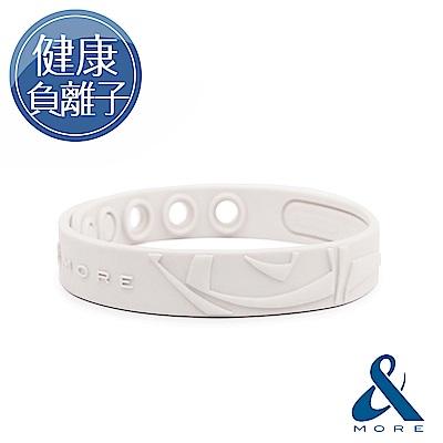 &MORE愛迪莫 KADORI負離子運動手環(白色)