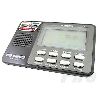 WONDER 旺德 WT-TR06 數位式 電話答錄機 密錄