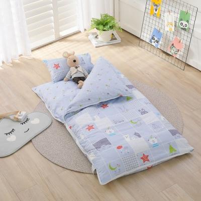 【IN HOUSE】晚安熊熊-100%精梳棉200織紗-兒童睡袋(藍)