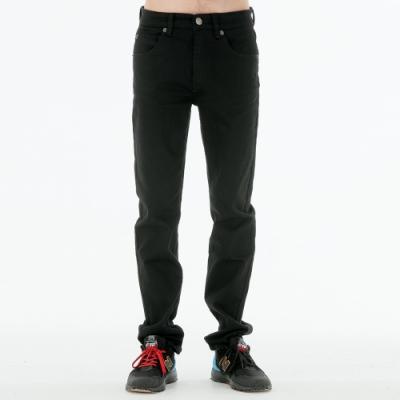 BIG TRAIN 黑色舒適高彈小直筒褲-男-黑