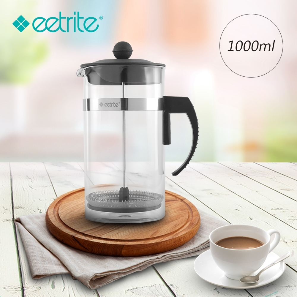 Eetrite伊萃特 法式簡約濾壓壺-黑(1000ml)