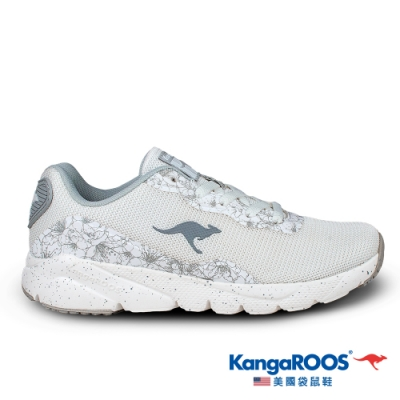 KangaROOS 美國袋鼠鞋 女 RUN SWIFT 超輕量慢跑鞋(白/灰-KW01609)
