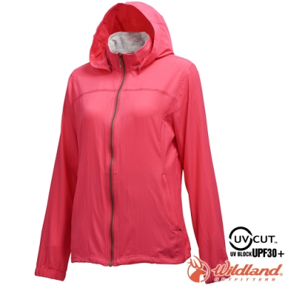 Wildland 荒野 0A71905-09桃紅色 女彈性透氣抗UV輕薄外套