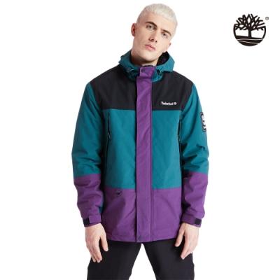 Timberland 男款大西洋綠戶外經典登山防水連帽外套|A2ADZ