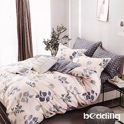 BEDDING-100%棉6尺加大雙人薄式床包三件組-連理枝