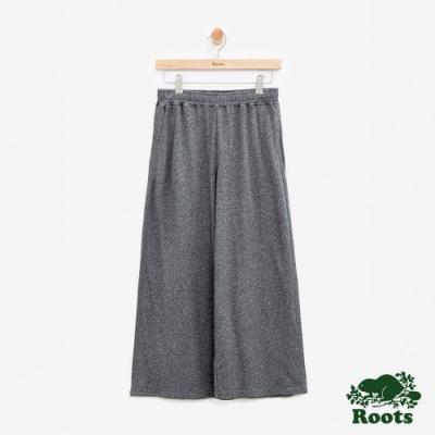 女裝Roots-寬版休閒棉褲-灰色